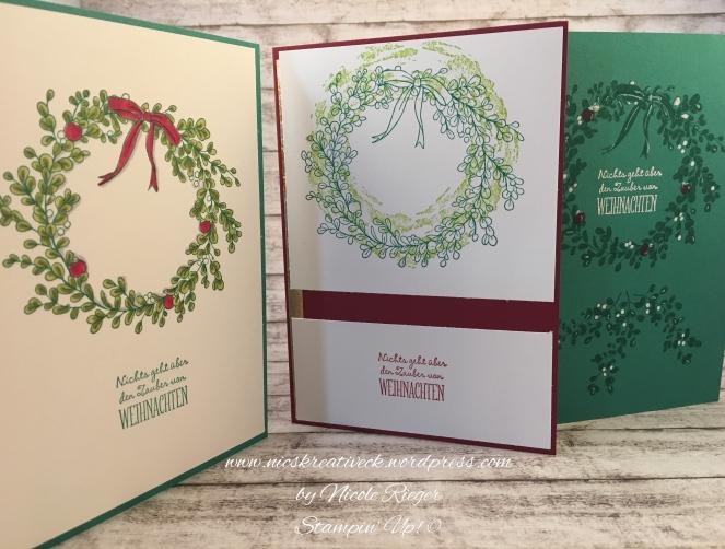 Stampin Up_Weihnachtszauber_Drei Karten