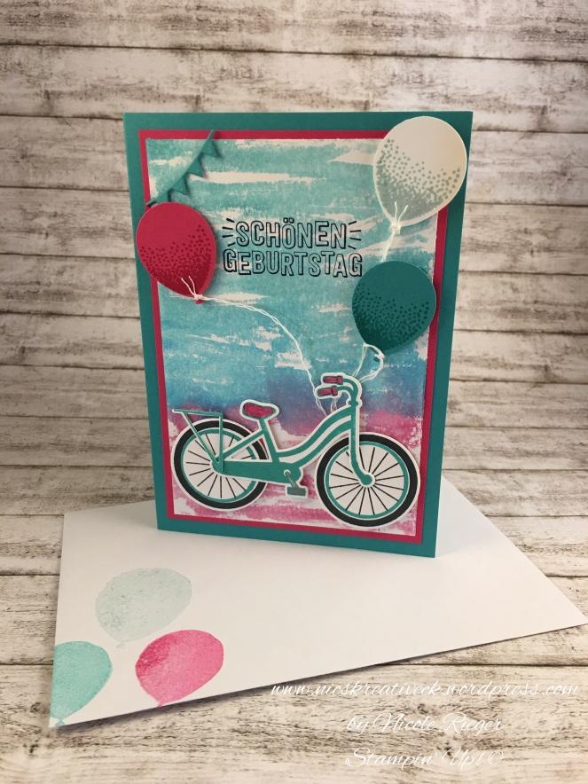 Stampin_Up_Geburtstagskarte_Fahrrad und Ballons