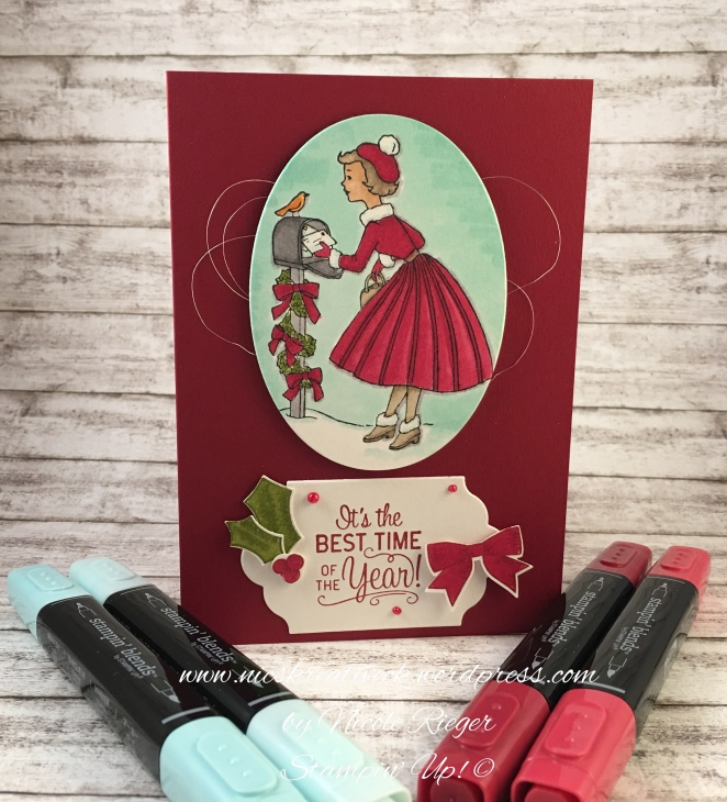 Stampin Up_Christams in the Making_Blends_Card_Blends