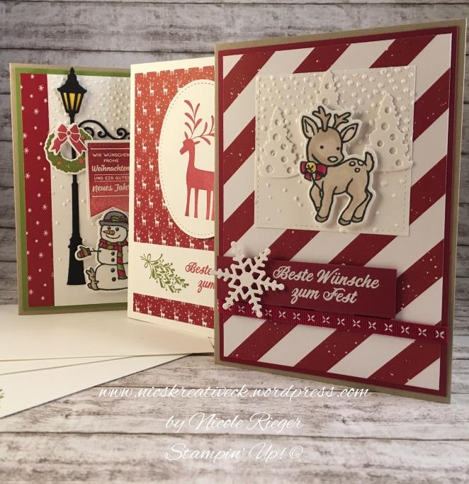 Stampin Up_Karten für Kartenbox_Freude im Advent